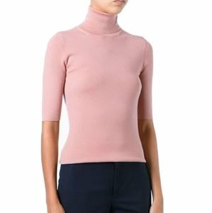 NWOT Theory Pink  Size L Short-Sleeve Ribbed Knit